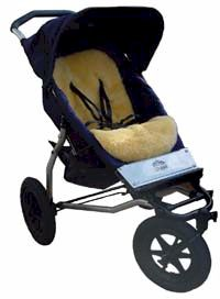 Lambskin Stroller Fleece pictured here on a Mountain Buggy because there aren't any Land Rover ATPs left to medel one on !  - click for larger image