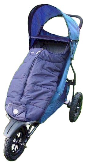 Snuggle Bag Navy Blue, fully fleece lined, waterproof exterior & draught hood - children love them
