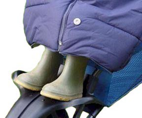 The base of the Snuggle Bag can be unzipped to allow wellies to poke through